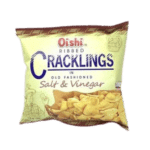 Oishi Ribbed Cracklings Salt & Vinegar (50g)