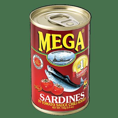 Mega Sardines in Tomato Sauce with Chili (155g)