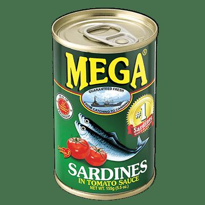 Mega Sardines in Tomato Sauce (155g)