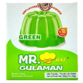 Mr Gulaman Green (Unflavored Jelly Powder) (25g)