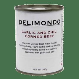 Delimondo Garlic and Chili Corned Beef (260g)