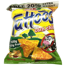 Tattoos Corn Chips Cheese (120g)