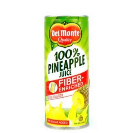 Del Monte Fiber Enriched 100% Pineapple Juice (240ml)