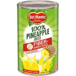 Del Monte Fiber Enriched 100% Pineapple Juice (Can) (46oz)