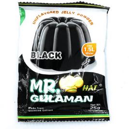 Mr Gulaman Black (Unflavored Jelly Powder) (25g)
